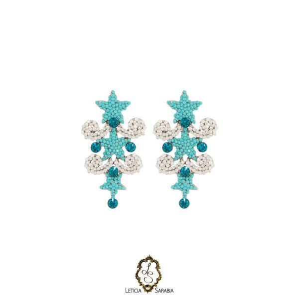 Brinco - Branco, Azul Turquesa e Azul Piscina B6938