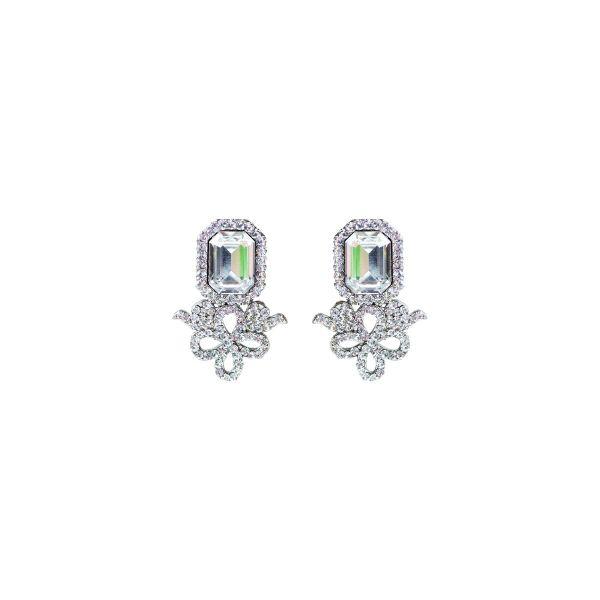 Brinco de noiva com cristal e pedra de swarovski - B7152