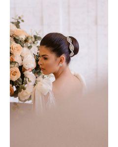 Porta coque de noiva com cristal e pérola - PRC02