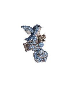 Anel Maria - Azul Marinho, Azul Claro e Prata
