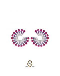 Brinco - Pink, Lavanda e Prata B6895