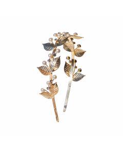 Tiara Noiva Dourada com Pérola e Cristal